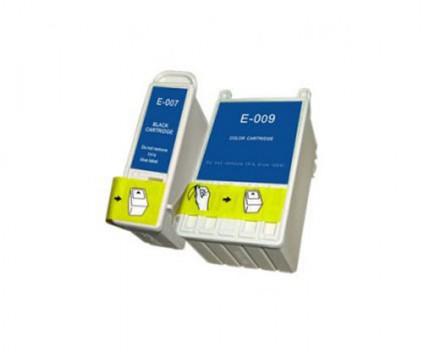 2 Compatible Ink Cartridges, Epson T007 Black 16ml + T009 Color 62ml