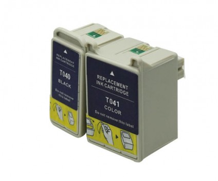 2 Compatible Ink Cartridges, Epson  T041 Color 37.2ml + T040 Black 17.8ml