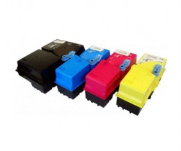 4 Compatible Toners, Kyocera TK 825 Black + Color ~ 15.000 / 7.000 Pages