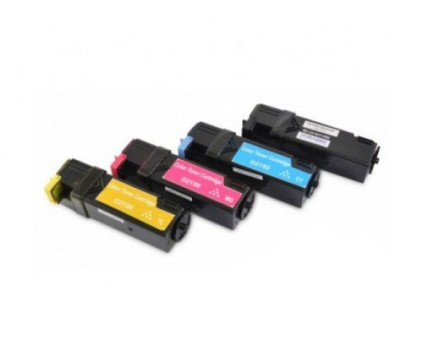 4 Compatible Toners, DELL 5931103X Black + Color ~ 3.000 / 2.500 Pages