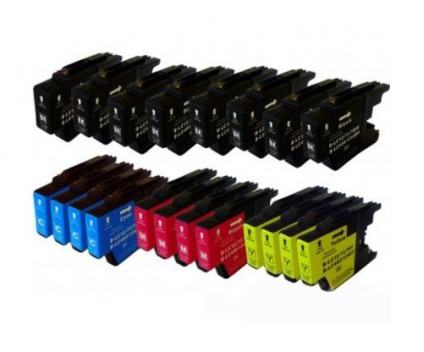 20 Compatible Ink Cartridges, Brother LC-1220 / LC-1240 / LC-1280 Black 32.6ml + Color 16.6ml