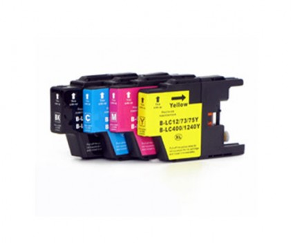 4 Compatible Ink Cartridges, Brother LC-1220 / LC-1240 / LC-1280 Black 32.6ml + Color 16.6ml
