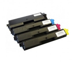 4 Compatible Toners, Kyocera TK 590 Black + Color ~ 7.000 / 5.000 Pages