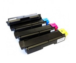 4 Compatible Toners, Kyocera TK 580 Black + Color ~ 4.000 / 3.000 Pages
