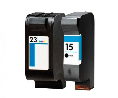 2 Compatible Ink Cartridges, HP 23 Color 39ml + HP 15 Black 40ml