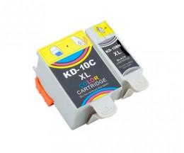 2 Compatible Ink Cartridges, Kodak 3949948 Black 15ml + Color 60ml