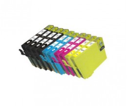 10 Compatible Ink Cartridges, Epson T1291-T1294 Black 15ml + Color 13ml
