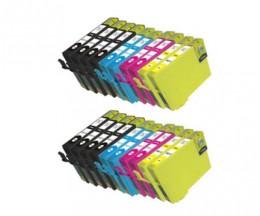 20 Compatible Ink Cartridges, Epson T1291-T1294 Black 15ml + Color 13ml