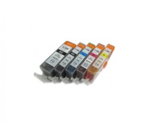 5 Compatible Ink Cartridges, Canon PGI-525 / CLI-526 Black 19.4ml + Color 9ml
