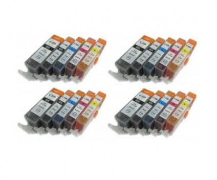20 Compatible Ink Cartridges, Canon PGI-525 / CLI-526 Black 19.4ml + Color 9ml