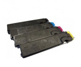 4 Compatible Toners, Kyocera TK 500 Black + Color ~ 8.000 Pages