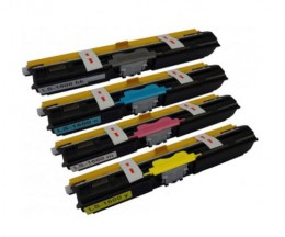 4 Compatible Toners, Konica Minolta A0V30XH Black + Color ~ 2.500 Pages