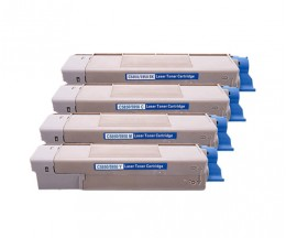 4 Compatible Toners, OKI 4386572X ~ 6.000 Pages