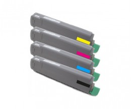 4 Compatible Toners, OKI 434877XX ~ 6.000 Pages