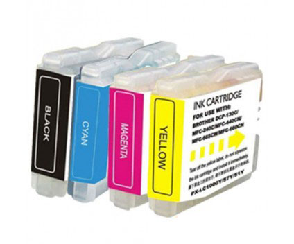 4 Compatible Ink Cartridges, Brother LC-970 XL / LC-1000 XL Black 36ml + Color 26.6ml
