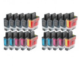 20 Compatible Ink Cartridges, Brother LC-900 Black 20ml + Color 12ml