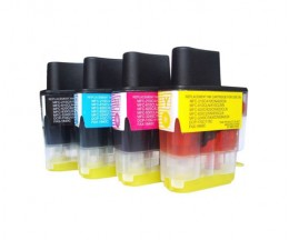 4 Compatible Ink Cartridges, Brother LC-900 Black 20ml + Color 12ml