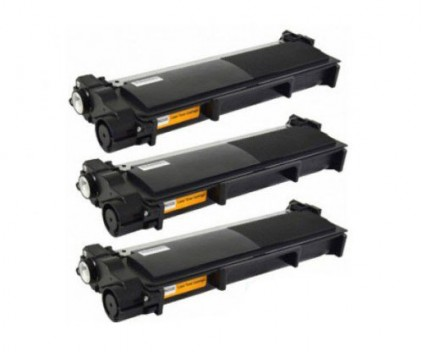 3 Compatible Toners, Brother TN-2320 Black ~ 2.600 Pages