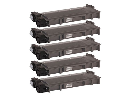 5 Compatible Toners, Brother TN-2320 Black ~ 2.600 Pages