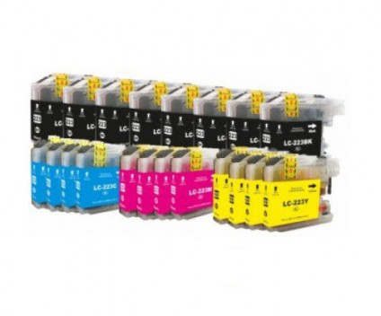 20 Compatible Ink Cartridges, Brother LC-221 / LC-223 Black 16.6ml + Color 9ml