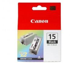 2 Original Ink Cartridges, Canon BCI-15 Black 5.3ml