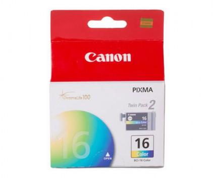 2 Original Ink Cartridges, Canon BCI-16 Color 2.5ml