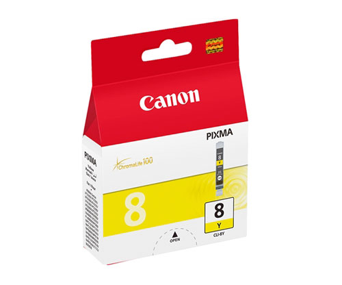 Original Ink Cartridge Canon CLI-8 Yellow 13ml ~ 530 Pages