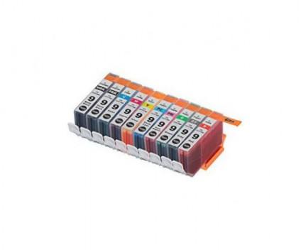 10 Compatible Ink Cartridges, Canon PGI-9 Black + Color 13.4ml