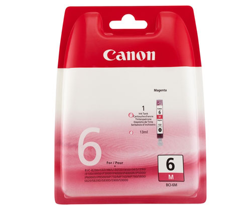 Original Ink Cartridge Canon BCI-6 Magenta 13ml ~ 280 Pages