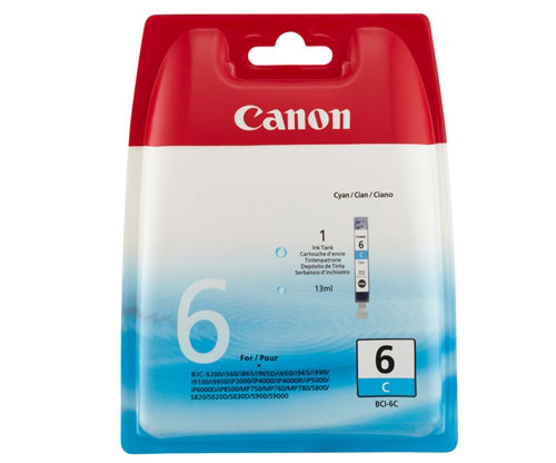 Original Ink Cartridge Canon BCI-6 Cyan 13ml ~ 280 Pages