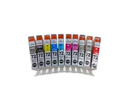 10 Compatible Ink Cartridges, Canon PGI-72 Black + Color 14ml