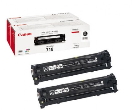 2 Original Toners, Canon EP-718 Black ~ 3.400 Pages