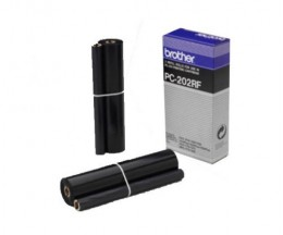 2 Original Thermal Transfer Rolls Brother PC202RF