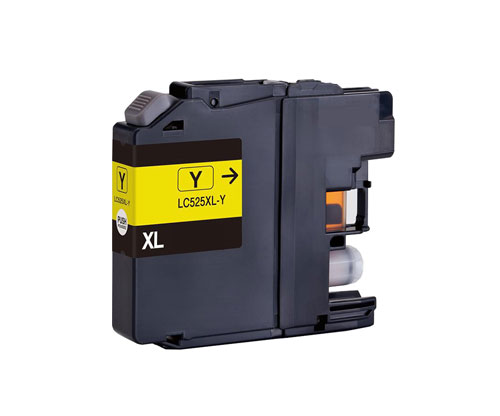 Compatible Ink Cartridge Brother LC-525 XL Y Yellow ~ 1.500 Pages