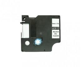 Compatible Tape DYMO 40910 Black 9mm x 7m