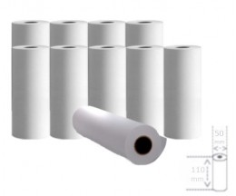 10 Thermal Paper Rolls 110x50x11mm