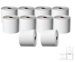 10 Thermal Paper Rolls 57x70x11mm