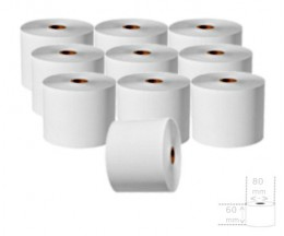 10 Thermal Paper Rolls 60x80x17mm