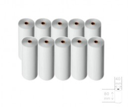 10 Thermal Paper Rolls 80x40x11mm