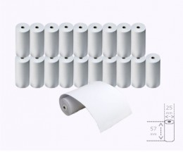 20 Thermal Paper Rolls 57x25x8mm
