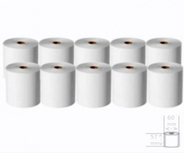 10 Thermal Paper Rolls 57x60x11mm