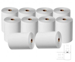 10 Thermal Paper Rolls 80x70x11mm
