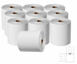 10 Thermal Paper Rolls 80x80x11mm