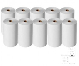10 Thermal Paper Rolls 80x60x11mm