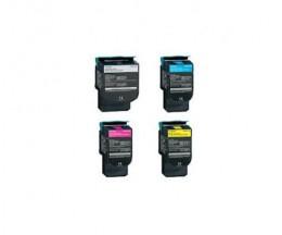 4 Compatible Toners, Lexmark C544X Black + Color ~ 6.000 / 4.000 Pages
