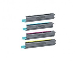 4 Compatible Toners, Lexmark C925H Black + Color ~ 8.500 / 7.500 Pages