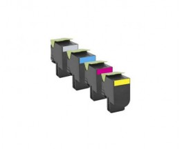 4 Compatible Toners, Lexmark 702H Black + Color ~ 4.000 / 3.000 Pages