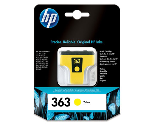 Original Ink Cartridge HP 363 Yellow 6ml ~ 500 Pages