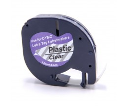 Compatible Tape DYMO 12267 Black / Clear 12mm x 4m