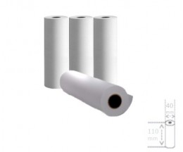 4 Thermal Paper Rolls 110x40x11mm
